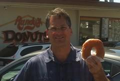 Rahn with a big randy donut-crop
