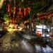 Dark Street with Lanterns in China by Stuck in Customs