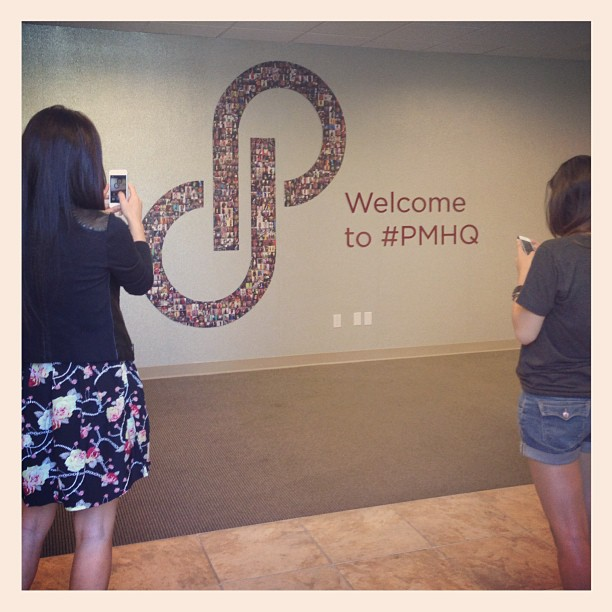 Our new sign was just installed and everyone wants a photo of it! #pmhq #poshmark #spreadthelove #instagood
