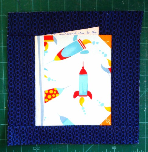 Book for baby quilt block