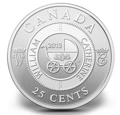 Canada 2013 George 25 cents