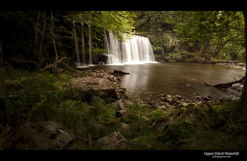 longexposure panorama water river waterfall pano upper sgwd uchaf ddwli