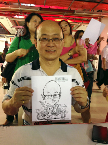 caricature live sketching for NTUC U Grand Prix Experience 2013 - 40