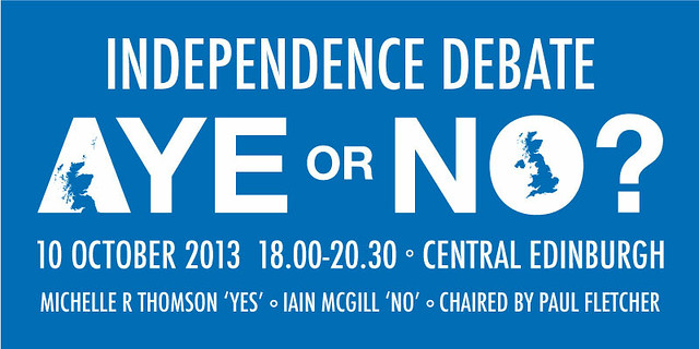 Independence Debate 10 October 2013, Central Edinburgh