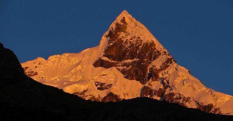 One of the Jurau peaks, from Huayhuash