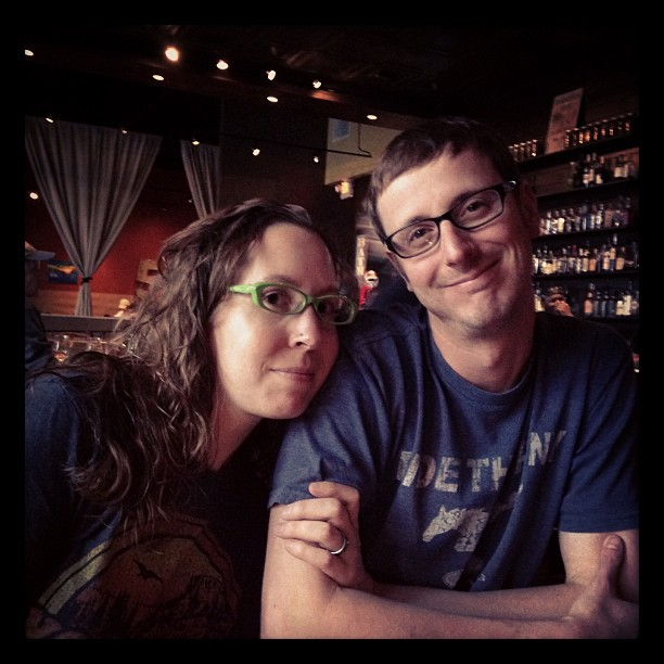 Ian and I at dinner. Thanks @reidiii for the picture!