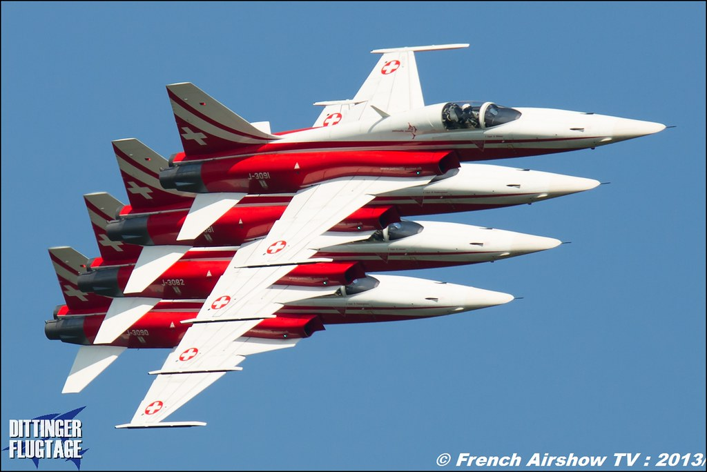 Patrouille Suisse aerobatic display team ,Dittinger Flugtage 2013