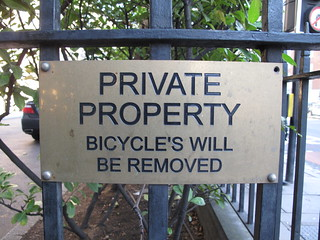 Bicycle's will be removed