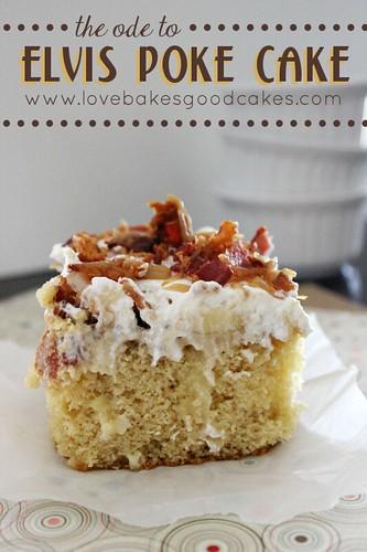 Ode to Elvis Poke Cake