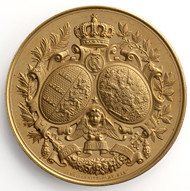 Medal on the silver wedding anniversary of King Charles and Queen Olga of Württemberg reverse