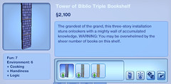 Tower of Biblio Triple Booshelf