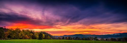 autumn sunset sky panorama orange mountain fall colors nationalpark twilight shadows unitedstates dusk cove tennessee scenic foliage valley smoky smokies townsend cades greatsmokymountainsnationalpark