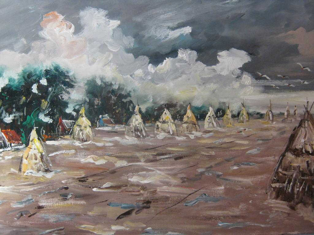 acryl painting 115x75  500 euro