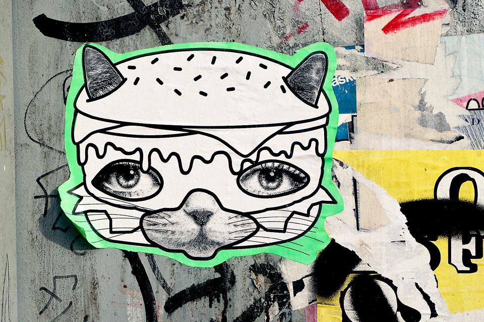 Street Art JdPK Julia die Punk Katze