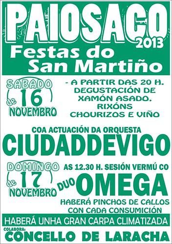 A Laracha 2013 - Festas de San Martiño en Paiosaco - cartel