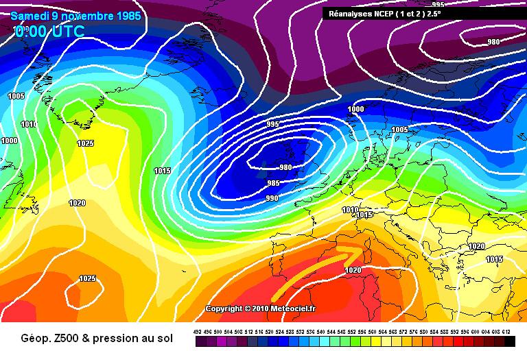 carte de situation des records mensuels absolus de chaleur en Corse le 10 novembre 1985 météopassion