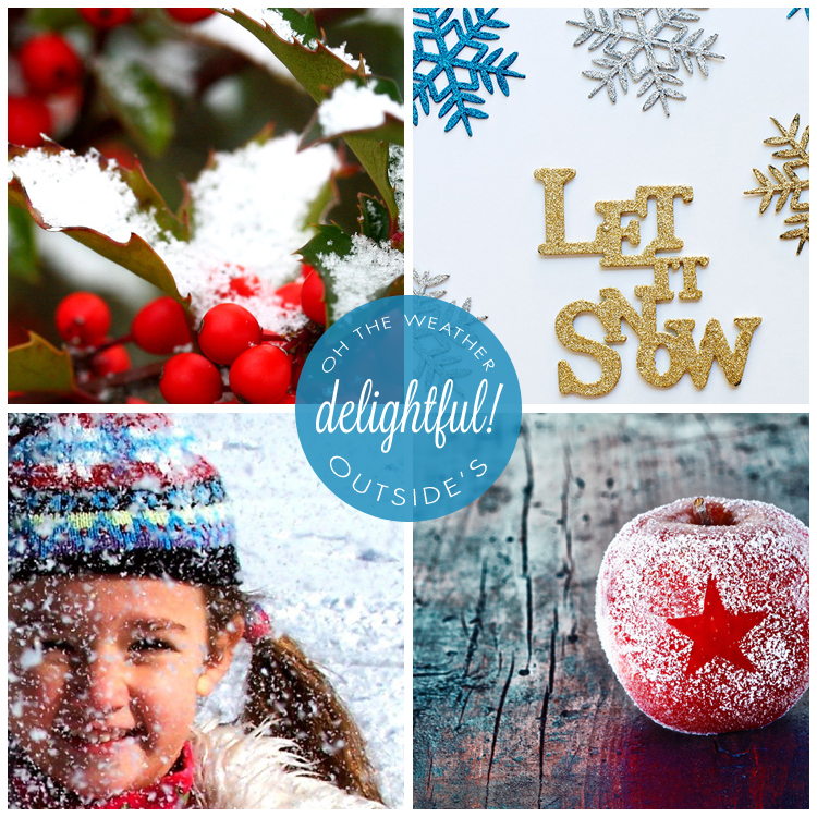 Free photo downloads...winter, first snow, holly berries, candy apple, let it snow!