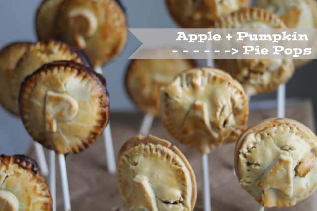 Apple and Pumpkin Pie Pops