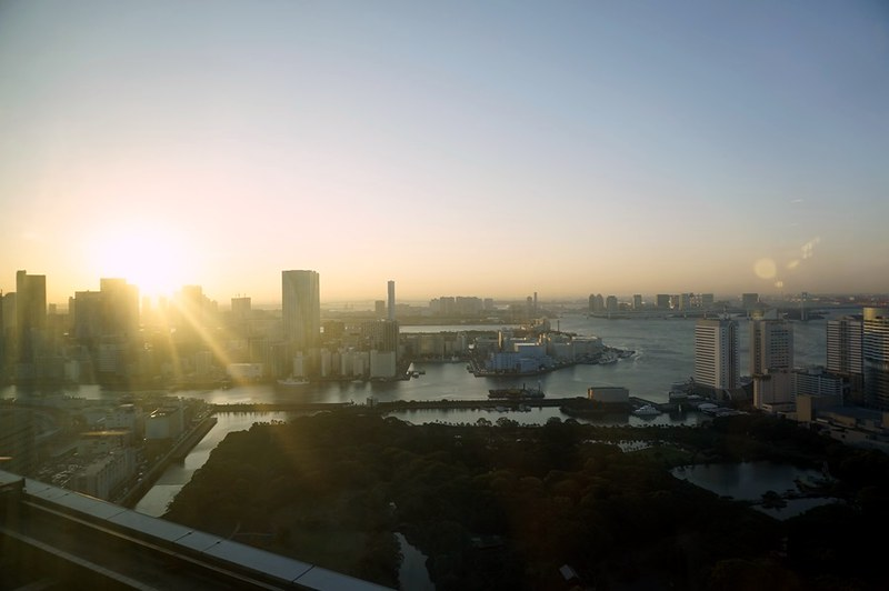 bay view from conrad tokyo review