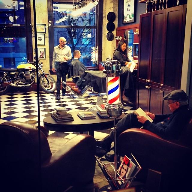 Friday afternoon barber shop snapshot... ✂ ✂ ✂ ✂ #haircuts #mensgrooming #barberlife