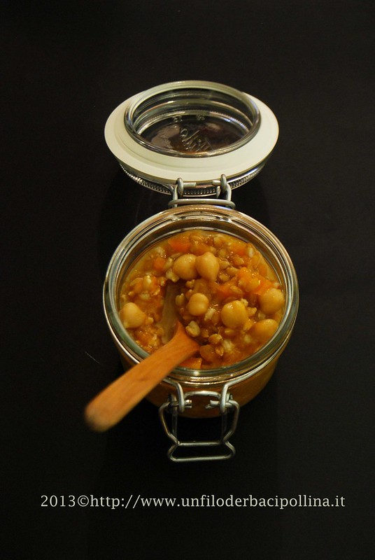 zuppa farro zucca e ceci