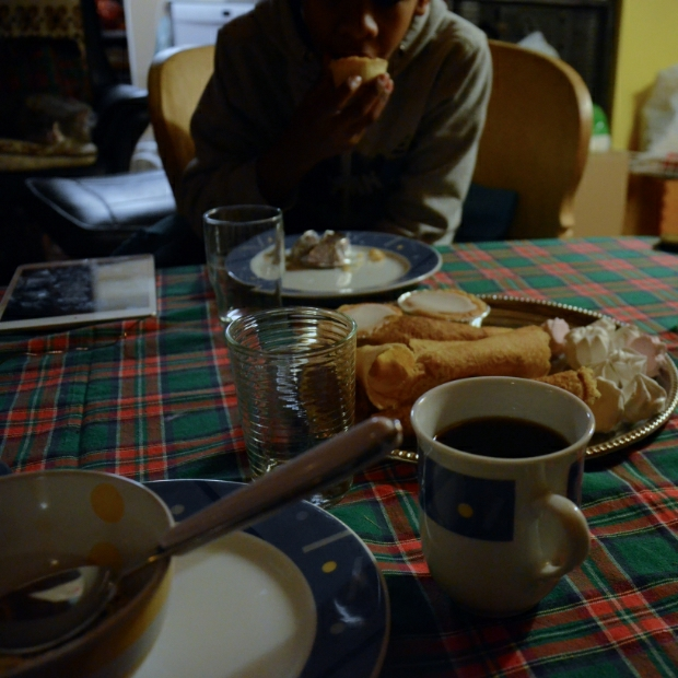 Coffee and cake at our neighbors | December day7