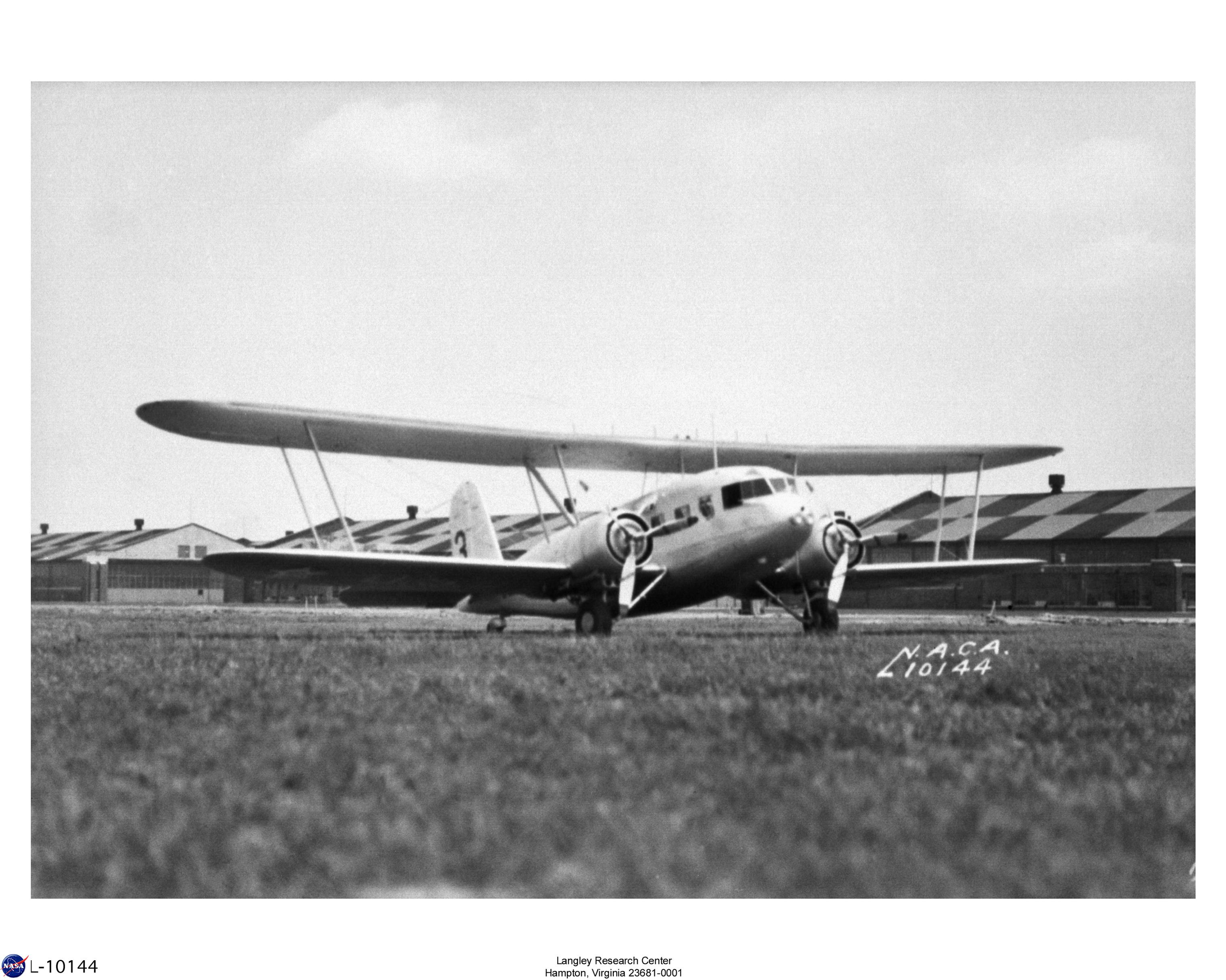 Curtiss Condor visiting Langley Field on Army Navy day. This particular plane was operated by the Marines and carried the designation R4C-1.  06-28-1939