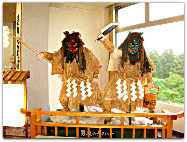 Namahage Display at hotel in Oga, Akita (Japan) 1