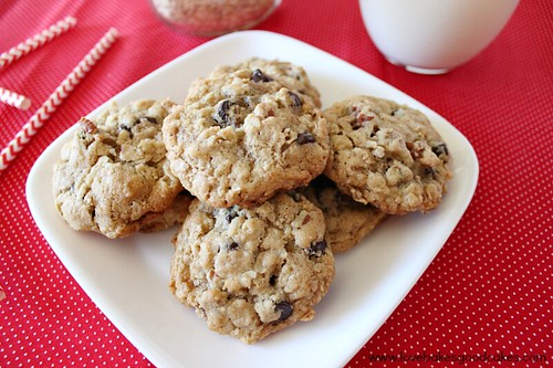 Cookies in a Jar stacked on plate.