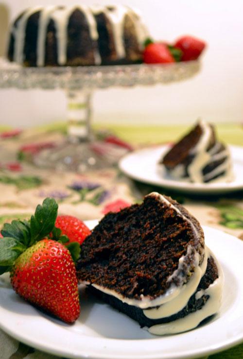 Chocolate Beet Cake with Cream Cheese Glaze