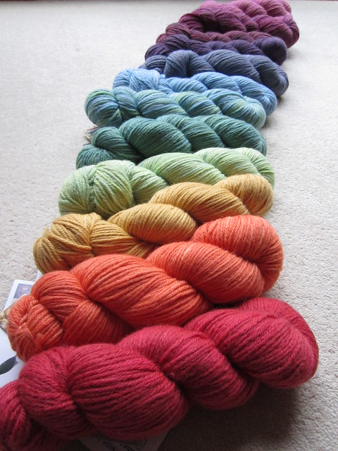 Knitting a rainbow! 003