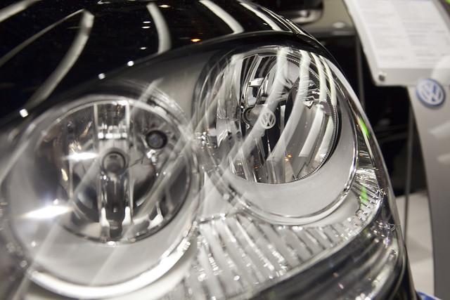 VW headlights at the Chicago Auto Show