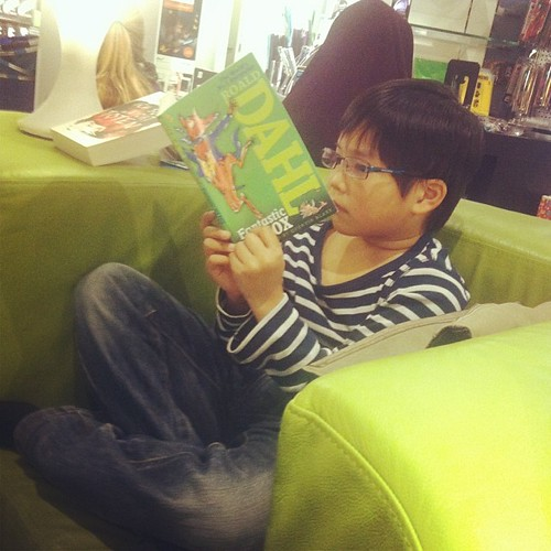 Caught reading #dahl