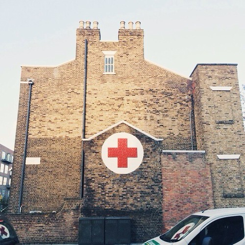 red cross building, e8. ➕