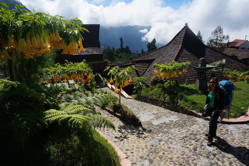 Leaving Cafe Lave at Cemoro Lawang