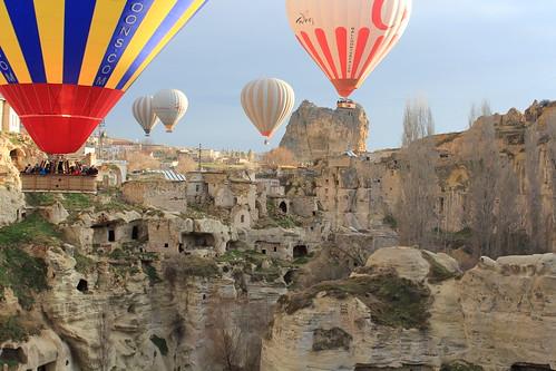 Cappadocia balloon trip, Ortahisar