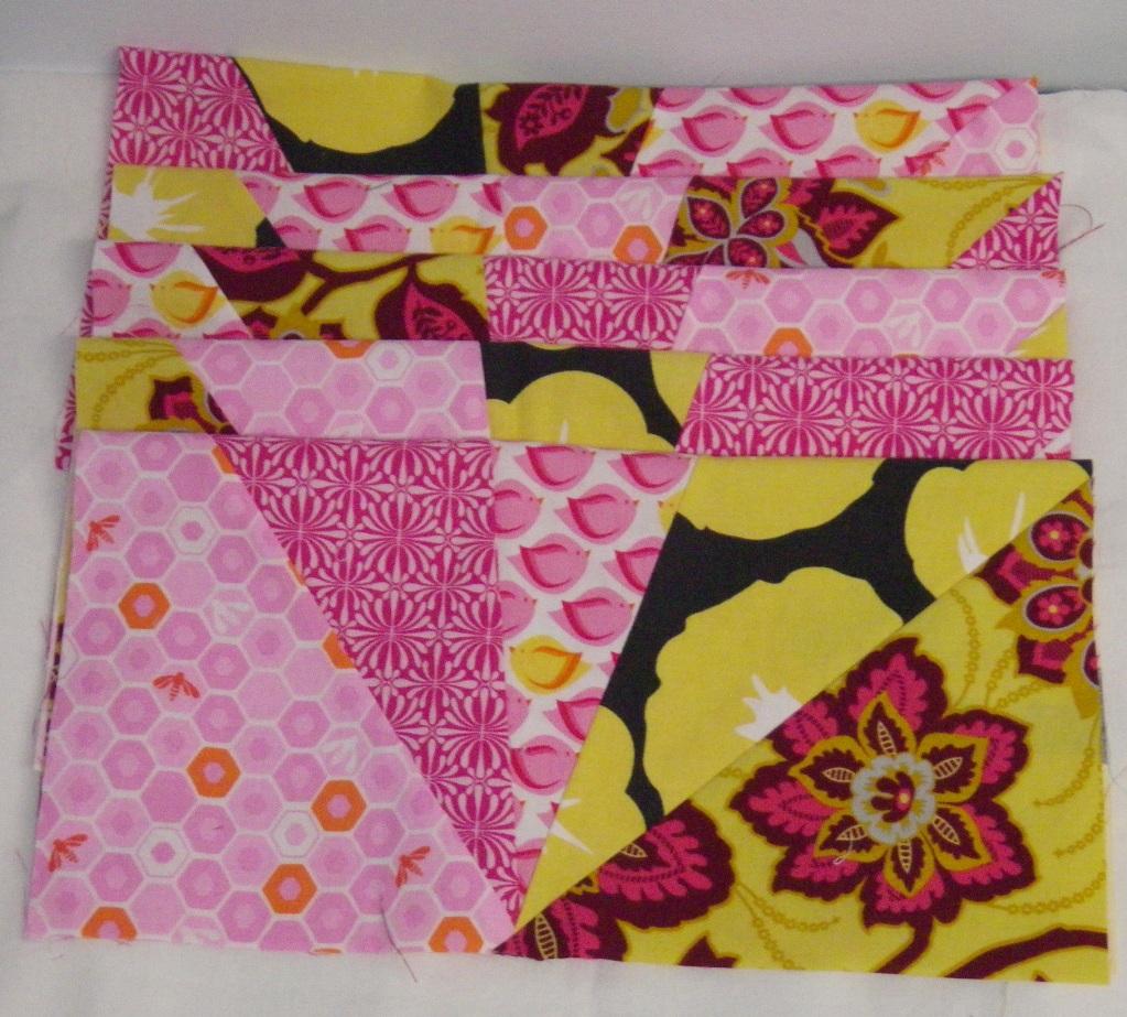 Refracted quilt blocks