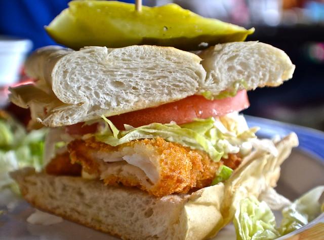 Hog Fish Bar and Grill - Key West, Florida - hogfish sandwich