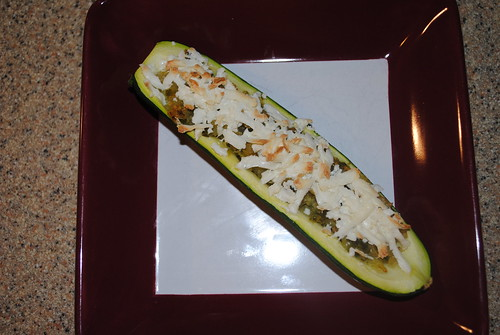 Cojita and Veggie Stuffed Zucchini Boats