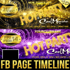 Hot Party - FB Page timeline cover