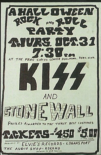 10/31/74 Kiss/ Stonewall @ Peru, IN