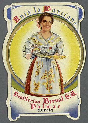 008-Etiquetas de bebidas. Figuras y retratos de mujeres-1890-1920- Biblioteca Digital Hispánica