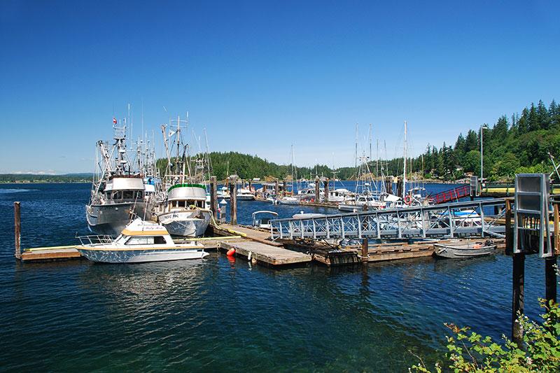 Quathiaski Cove, Quadra Island, Discovery Islands, British Columbia, Canada