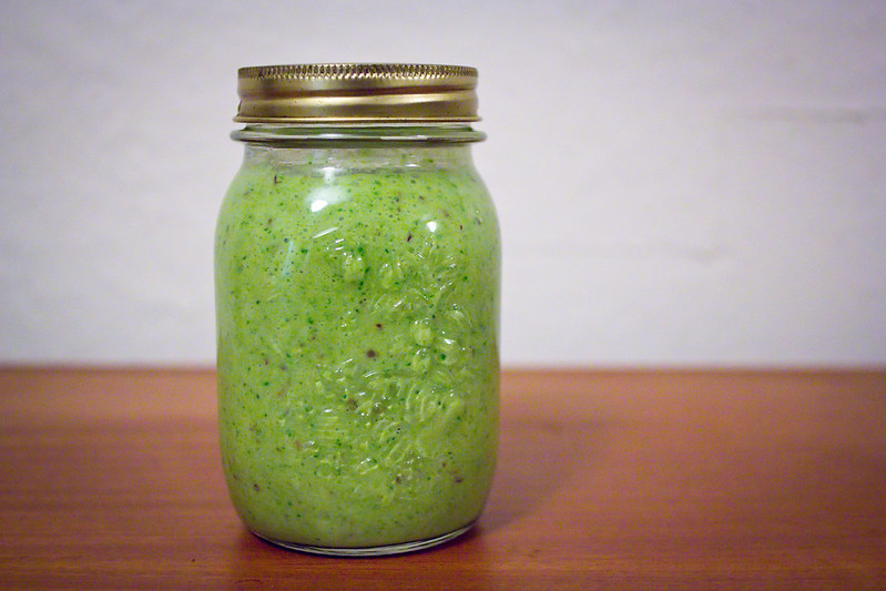 Thursday, January 9: It's the first week back at work for the year, new responsibilities and a new diet call for new ways of doing things. Namely becoming one of *those* people who drink green smoothies from mason jars.