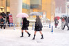 Japanese Schoolgirls in Snow by tokyofashion
