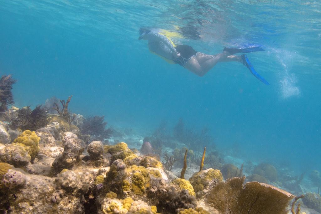 Underwater hiking