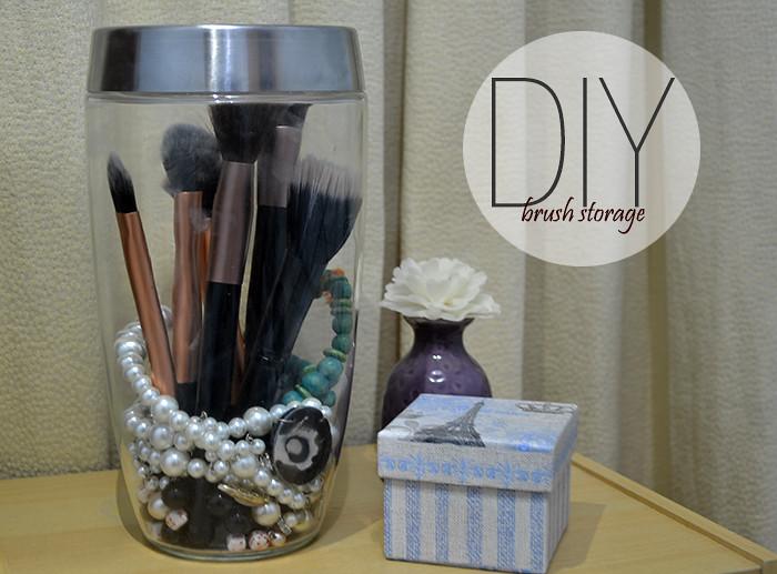 DIY: Affordable Brush Storage
