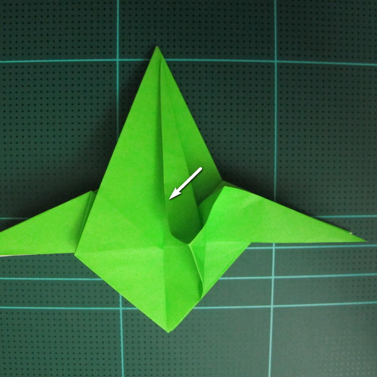 วิธีพับกระดาษเป็นจรวด X-WING สตาร์วอร์ (Origami X-WING) 026