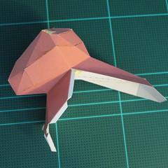 วิธีทำโมเดลกระดาษเรขาคณิตรูปกระต่าย (Rabbit Geometric Papercraft Model) 018