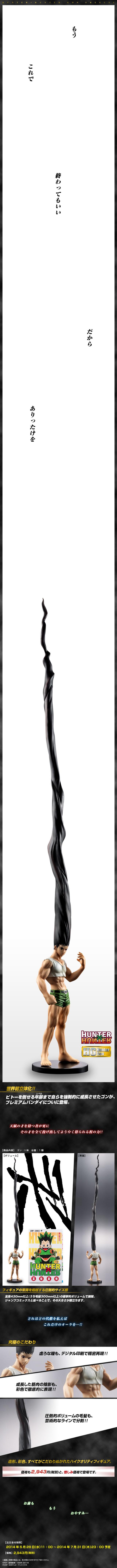 HUNTER×HUNTER獵人大傑小傑覺醒獵人x獵人模型報告上班族富奸休刊People2復刊人2HUNTER×HUNTERゴン巨人隆基努斯之槍彩虹小馬針灸佛地魔頭髮